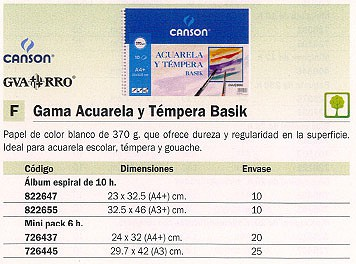 GUARRO CANSON PAPEL 6 HOJAS A3 370 GR 200402393