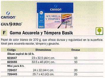 ENVASE DE 10 UNIDADESCANSON PAPEL DIBUJO 10 HOJAS A4 370 GR 200400698