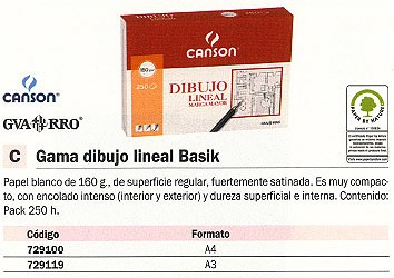 CANSON PAPEL DIBUJO 250 HOJAS A3 160 GR 200402767