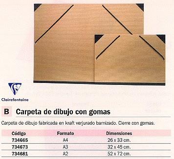 CLAIREFONTAINE CARPETA DIBUJO 32X45 CM A3 44100C