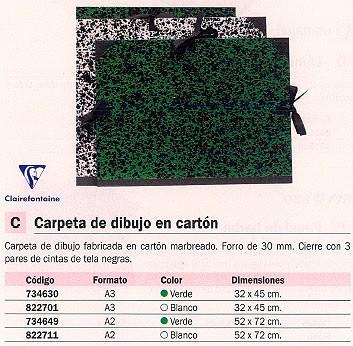 CLAIREFONTAINE CARPETA DIBUJO A2 VERDE 32800C