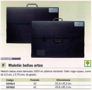 FOLDERMATE MALETÍN BELLAS ARTES 32,3X45,3 NEGRO PLASTICO 587