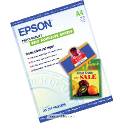 PAPEL ESPECIAL HQ AUTOADHESIVO DIN A4 10 HOJAS EPSON S041106