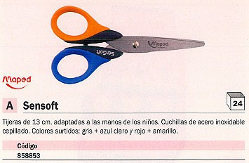 MAPED TIJERAS SENSOFT 13 CM COLORES SURTIDOS 169300