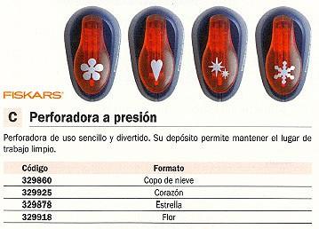 FISKARS PERFORADORA A PRESION COPO DE NIEVE DECORATIVA 5459