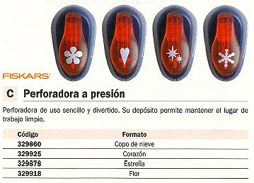 FISKARS PERFORADORA A PRESION CORAZON DECORATIVA 1004644