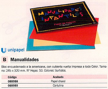 Comprar  088989 de Unipapel online.