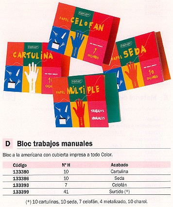 UNIPAPEL CARTULINA 10 HOJAS COLORES SURTIDOS 4782-PA