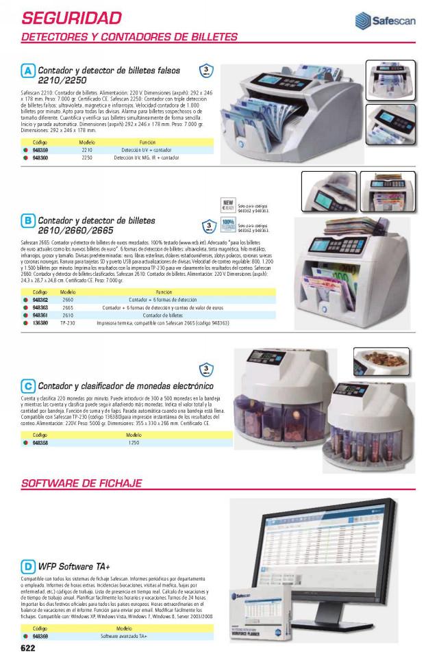 SAFESCAN CONTADOR DE BILLETES MODELO 2210 REF.115-0512