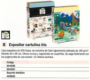 CANSON EXPOSITOR CARTULINA IRIS 200 HOJAS 50X65 CM 15 COLORES SURTIDOS 200004697