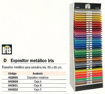 CANSON EXPOSITOR CARTULINA IRIS 34 BANDEJAS 50X65 400080321