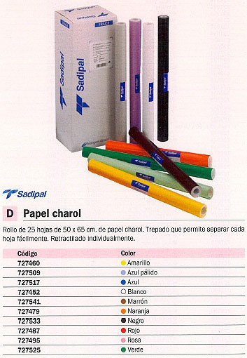 SADIPAL PAPEL CHAROL 25 HOJAS ROLLO 50X65 VERDE 12907