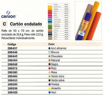 GUARRO CANSON ROLLO CARTÓN ONDULADO 50X70CM NEGRO 200992620