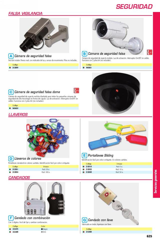 MARCA BLANCA CAMARA DE SEGURIDAD FALSA CCTV LED INTERIOR Y EXTERIOR (PILAS NO INCLUIDAS) REF.8001101