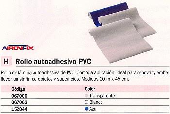 AIRONFIX ROLLO AUTOADHESIVO PVC 20MX45 CM BLANCO MATE 67002