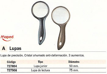 MAPED LUPA LECTURA 75 MM 3 AUMENTOS 39300
