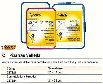 BIC PIZARRA BLANCA VELLEDA 24X33 CM BORRABLE DOBLE CARA 1199001518