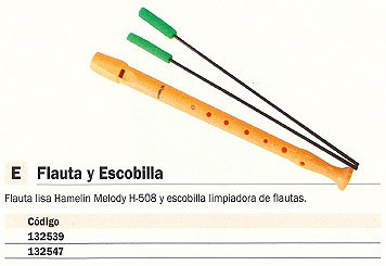 ENVASE DE 24 UNIDADES HAMELIN ESCOBILLA LIMPIADORA FLAUTA H-508 1680025