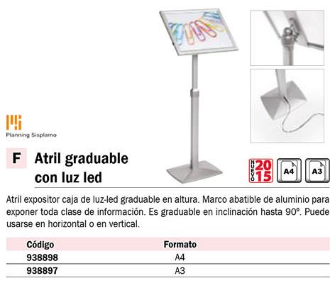 Atriles PLANNING SISPLAMO ATRILES A3 GRADUABLE CON LUZ LED 822/A3/L