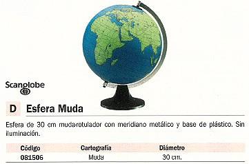 Comprar Esferas Cartografia 081506 de Scangloble online.