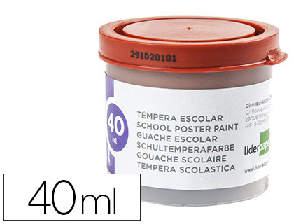 ENVASE DE 5 UNIDADES TEMPERA LIDERPAPEL ESCOLAR 40 ML MARRON