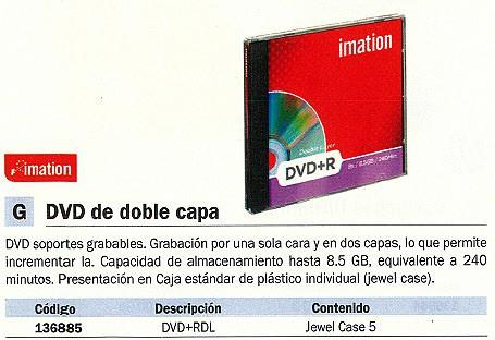 Comprar DVD+R 136885 de Imation online.