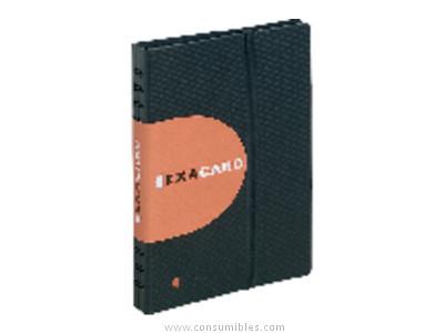 EXACOMPTA TARJETERO EXACARD 200X250 PARA 240 TARJETAS GOMA ELASTICA CIERRE 75134E