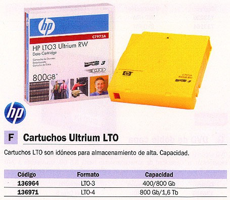 HEWLETT PACKARD CARTUCHO ULTRIUM LTO-3 800 GB C7973A