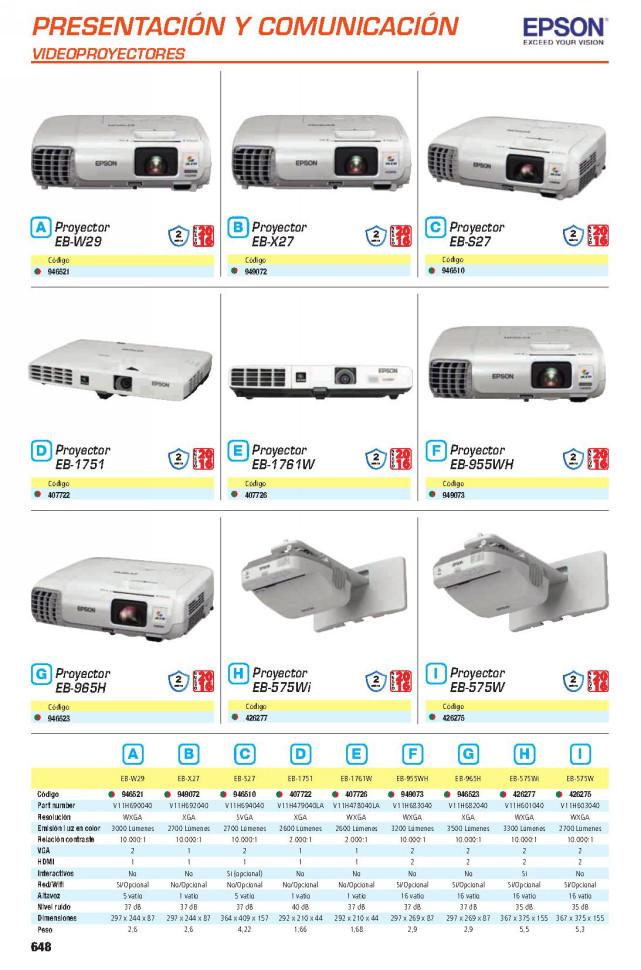 EPSON EB-X27, XGA, 2700 LUMENS, VGA, HDMI, 1V, 36DB