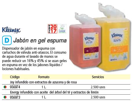 Higiene KLEENEX RECAMBIO 1L TESTADOS DERMATOLÓGICAMENTE USO FRECUENTE CON EXTRACTOS DE AZUCENA Y ROSA 6387
