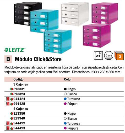 Accesorios de Sobremesa LEITZ BUC 4 CAJONES C&S TURQUESA PARA ORGANIZAR DOCUMENTOS. 60490051