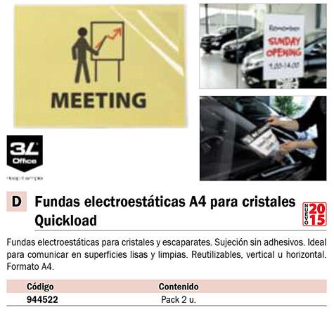 FUNDAS ELECTROESTATICAS REPOSICIONABLES PARA COMUNICAR SOBRE CRISTALES. VERTICAL-HORIZONTAL A3