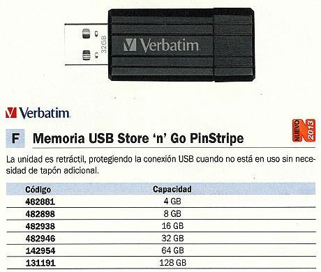 VERBATIM MEMORIA USB PINSTRIPE USB 2.0 16GB NEGRO 49063