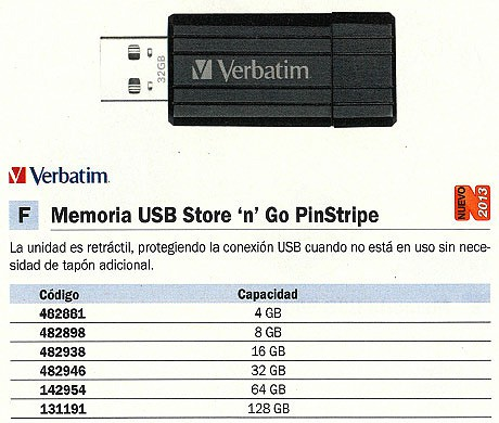 VERBATIM MEMORIA USB STORE´N´ GO PINSTRIPE USB 32GB NEGRO RETRÁCTIL 49064