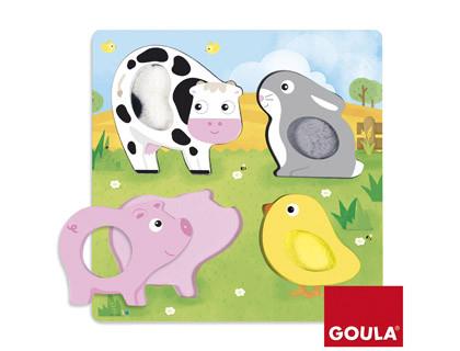 Puzzles puzzle ANIMALES tela granja 4 piezas