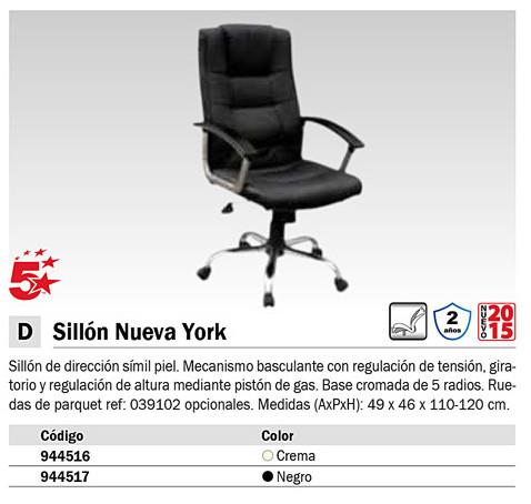 PIQUERAS SILLON NEWYORK EN SIMIL PIEL NEGRO.280DBSPNE