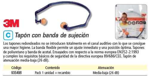 Seguridad 3M TAPON CON BANDA+RECAMBIO MODELO 1310 REF.XA004837630
