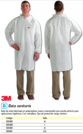 Seguridad 3M BATA DE LABORATORIO SERIE 4400 TALLA XXL REF.GT700001347