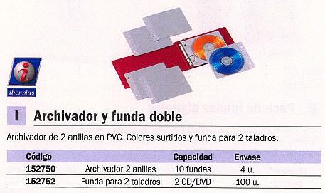 ENVASE DE 100 UNIDADES IBERPLAS ARCHIVADOR PARA CD S/DVD S CAPACIDAD 100 DISCOS 479C2