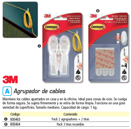 COMMAND PACK DE 3 TIRAS 17021 MEDIANA PARA AGRUPACABLE REF.UU001580933