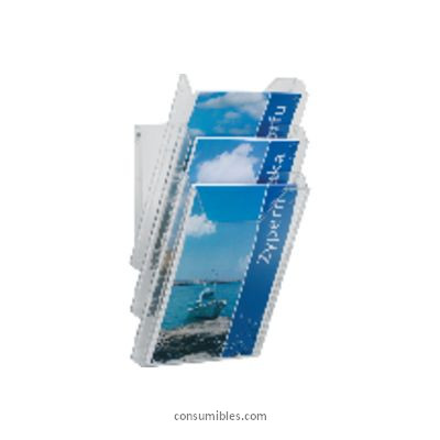 DURABLE EXPOSITOR PARED COMBIBOXX A4 DISPENSADOR FOLLETOS 8578