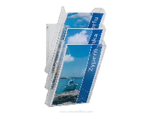DURABLE EXPOSITOR PARED COMBIBOXX A4 DISPENSADOR FOLLETOS 8578