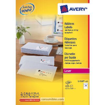 AVERY ETIQUETAS LASER QUICKPEEL CAJA 100 HOJAS 1000 UD 99,1X57 L7173-100