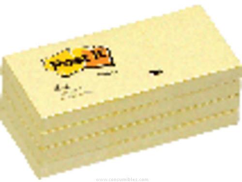 POST IT NOTAS ADHESIVAS PACK 12 BLOCS 100H AMARILLO 38X51 MM FT510058488