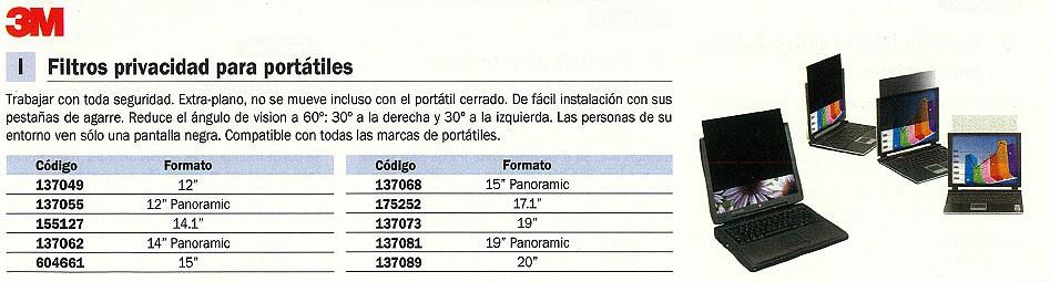 3M FILTRO PRIVACIDAD 12 PULGADAS PANORAMICA 98044054082