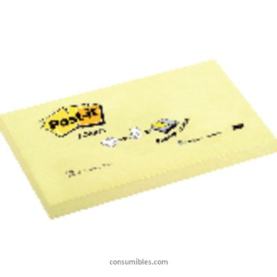 Z-Notes POST-IT NOTAS ADHESIVAS Z-NOTES 100H AMARILLO 76X127MM FT510000100
