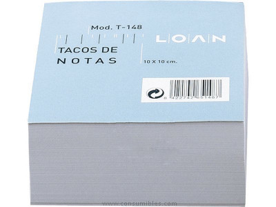 100 x 100 mm LOAN TACO NOTAS ADHESIVAS 500H BLANCO 100X100 MM T 171
