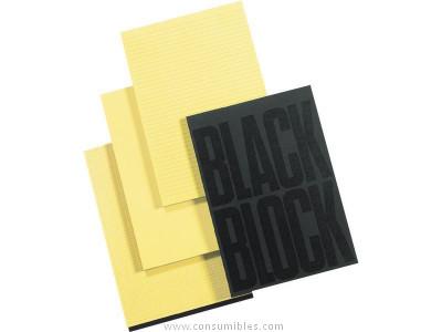 ENVASE DE 5 UNIDADES EXACOMPTA BLOC NOTAS BLACK BLOCK 70H A4 HORIZONTAL AMARILLO 5702E