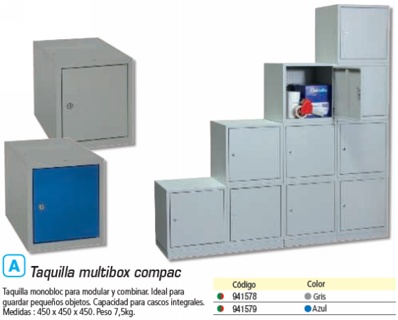 TAQUILLA MULTIBOX COMPAC Y MODULABLE GRIS MULTI450S2_G1G1