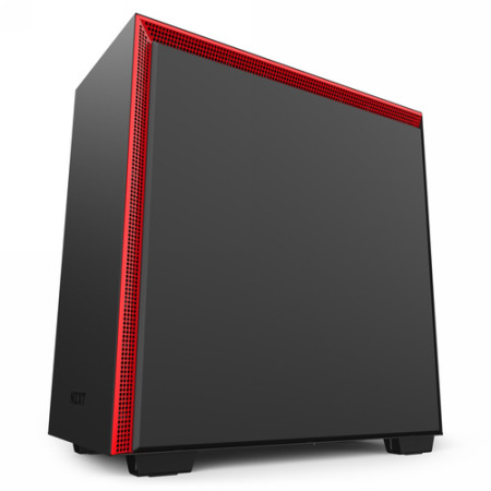 NZXT CAJA SEMITORRE ATX H710. LATERAL CRISTAL TEMPLADO. NEGRO-ROJO MATE